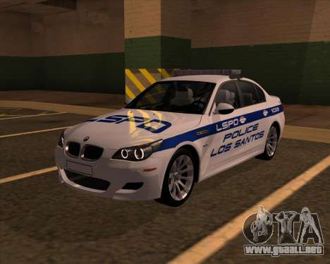 BMW M5 E60 Police LS para GTA San Andreas