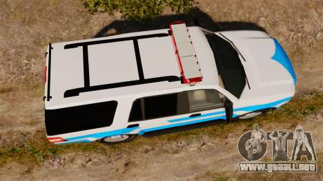 Ford Expedition Japanese Police SSV v2.5F [ELS] para GTA 4 visión correcta