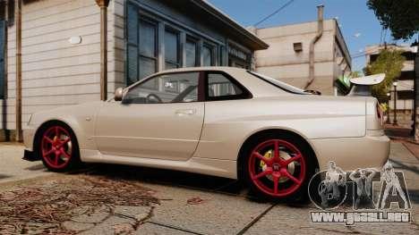 Nissan Skyline GT-R R34 V-Spec II para GTA 4 left
