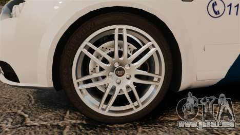 Audi S4 Avant Hungarian Police [ELS] para GTA 4 vista hacia atrás