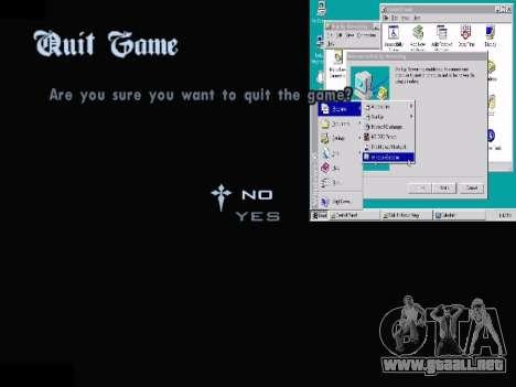 El Menú De Windows para GTA San Andreas octavo de pantalla