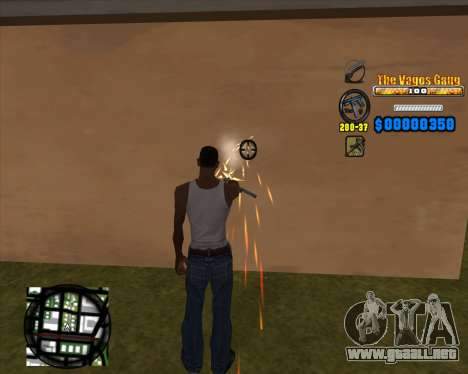 C-HUD Los Santos Vagos Gang para GTA San Andreas tercera pantalla