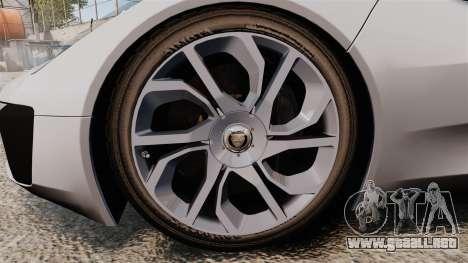 Jaguar C-X75 [EPM] Carbon Series para GTA 4 vista hacia atrás