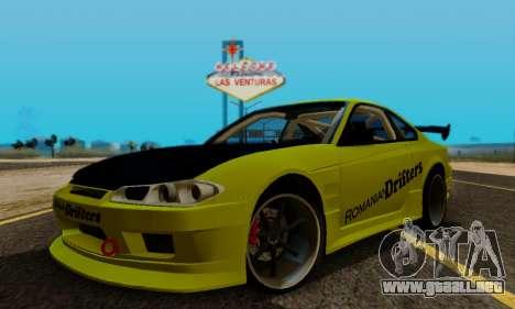 Nissan Silvia S15 Romanian Drifters para vista lateral GTA San Andreas