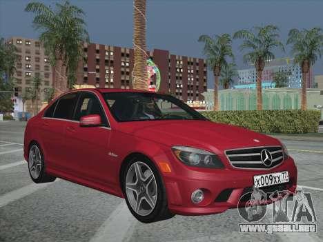 Mercedes-Benz C63 AMG HQLM para visión interna GTA San Andreas