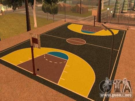 Nueva cancha de baloncesto para GTA San Andreas segunda pantalla
