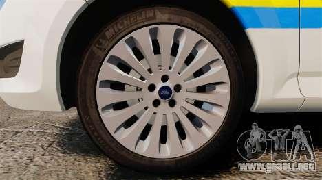 Ford Mondeo Croatian Police [ELS] para GTA 4 vista hacia atrás