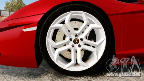 Lamborghini Aventador LP700-4 2012 [EPM] para GTA 4 vista hacia atrás