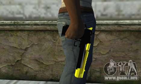 Yellow Desert Eagle para GTA San Andreas tercera pantalla