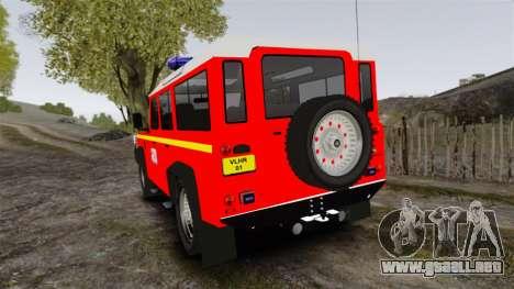 Land Rover Defender VLHR SDIS 42 [ELS] para GTA 4 Vista posterior izquierda