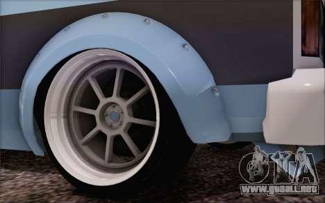 Regina Widebody V8 para GTA San Andreas vista posterior izquierda