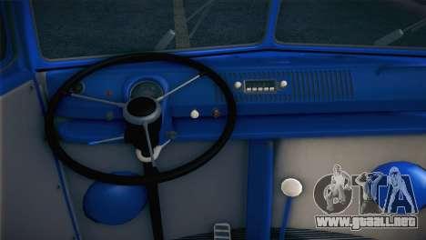 Volkswagen T1 Milicija para GTA San Andreas vista hacia atrás