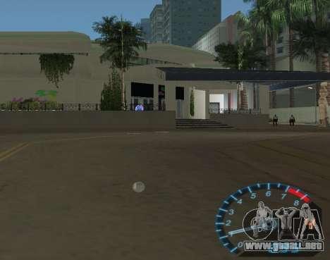 El velocímetro de NFS Underground para GTA Vice City sucesivamente de pantalla