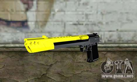 Yellow Desert Eagle para GTA San Andreas
