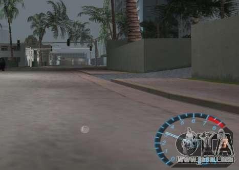 El velocímetro de NFS Underground para GTA Vice City tercera pantalla