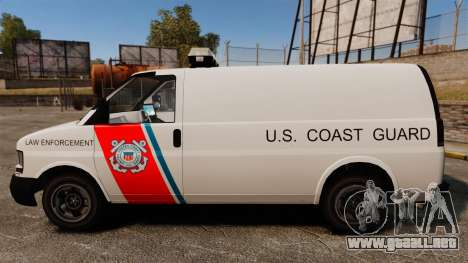 Vapid Speedo U.S. Coast Guard para GTA 4 left