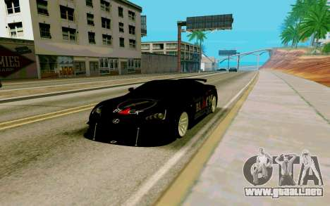 Lexus LFA Street Edition Djarum Black para la visión correcta GTA San Andreas