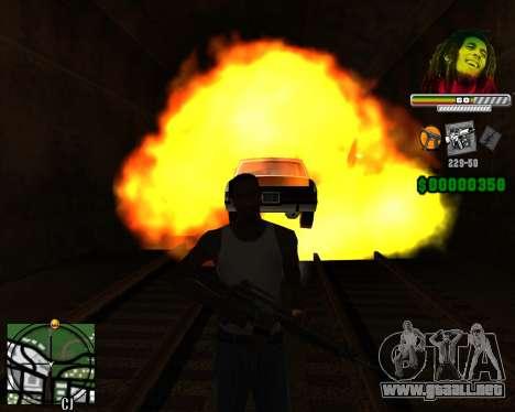 C-HUD Bob Marley para GTA San Andreas tercera pantalla