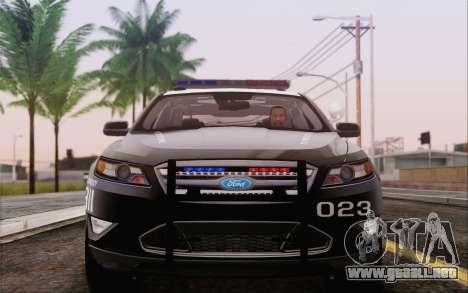Ford Taurus Police para GTA San Andreas vista posterior izquierda