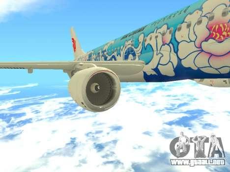 Airbus A320 Air China para GTA San Andreas interior