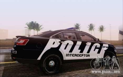 Ford Taurus Police para GTA San Andreas left