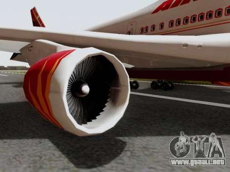 Boeing 747 Air India para la visión correcta GTA San Andreas