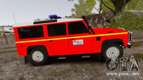 Land Rover Defender VLHR SDIS 42 [ELS] para GTA 4 left