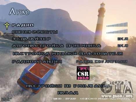 New Menu GTA 5 para GTA San Andreas sexta pantalla