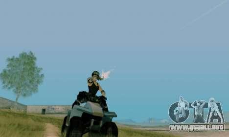 SWAT GIRL para GTA San Andreas sucesivamente de pantalla