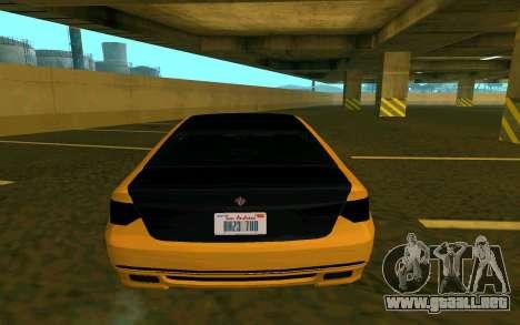 Ubermacht Oracle из GTA EN para GTA San Andreas vista posterior izquierda