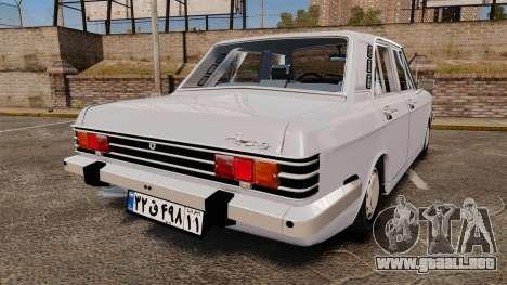 IKCO Paykan 1970 para GTA 4 Vista posterior izquierda
