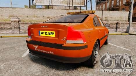 Volvo S60 tecnovia [ELS] para GTA 4 Vista posterior izquierda