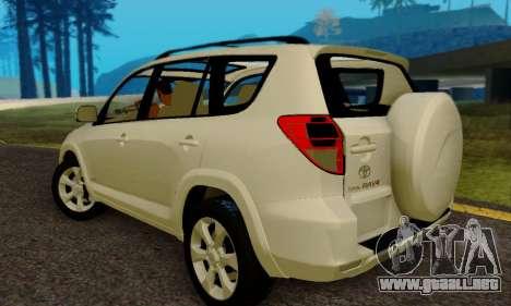 Toyota RAV4 para GTA San Andreas vista posterior izquierda