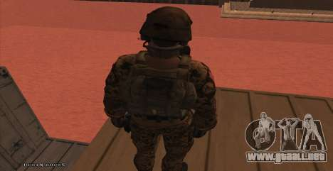 Global Defense Initiative Soldier para GTA San Andreas séptima pantalla