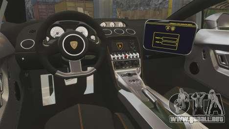 Lamborghini Gallardo Gendarmerie National [ELS] para GTA 4 vista lateral