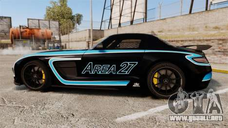 Mercedes-Benz SLS 2014 AMG Black Series Area 27 para GTA 4 left