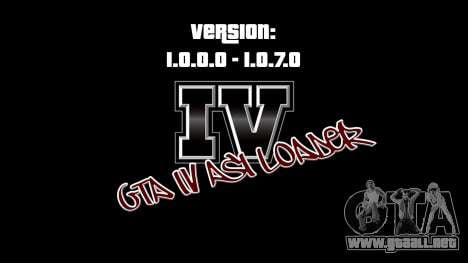 ASI Loader for GTA IV 1.0.7.0-EN 1.0.0.0 para GTA 4
