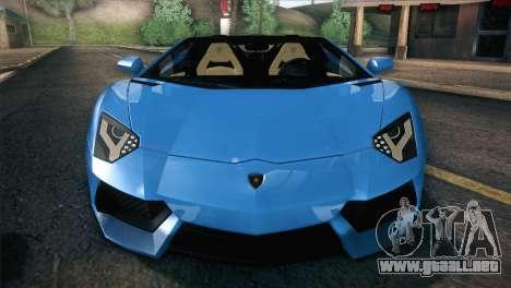 Lamborghini Aventador Roadster para vista inferior GTA San Andreas