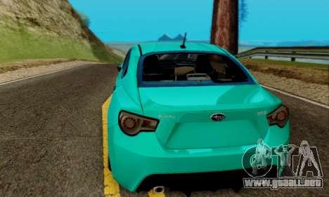 Subaru BRZ para visión interna GTA San Andreas