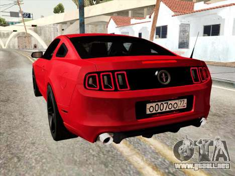 Ford Mustang Boss 302 2013 para GTA San Andreas vista posterior izquierda