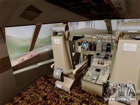Boeing 747 Air India para vista lateral GTA San Andreas