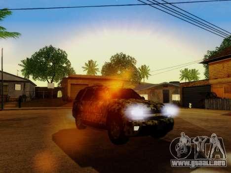 Chevrolet TrailBlazer Army para la vista superior GTA San Andreas