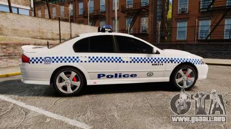 Ford Falcon XR8 Police Western Australia [ELS] para GTA 4 left