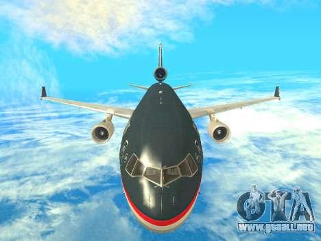 McDonnell Douglas MD-11 US Airways para visión interna GTA San Andreas