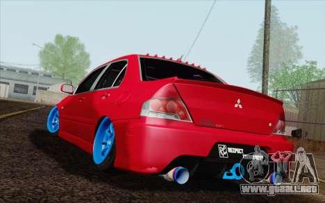 Mitsubishi Lancer MR Edition para GTA San Andreas left