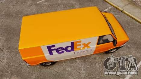 Brute Pony FedEx Express para GTA 4 visión correcta