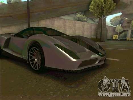 Cheetah Grotti GTA V para visión interna GTA San Andreas