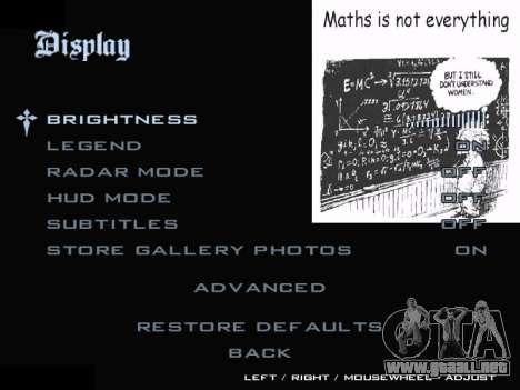 New Menu 2001 para GTA San Andreas sucesivamente de pantalla