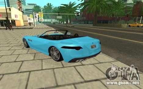 Benefactor Surano GTA V para GTA San Andreas vista posterior izquierda