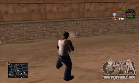C-HUD Lite para GTA San Andreas sucesivamente de pantalla